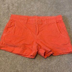 Athleta Orange Corduroy Shorts 2